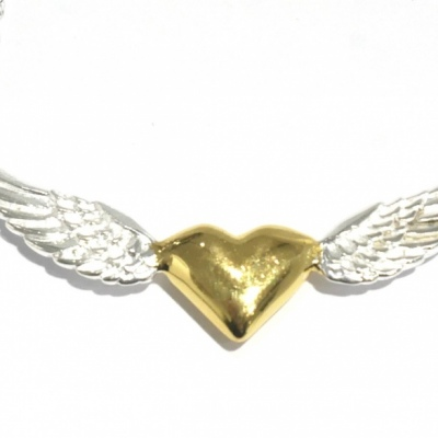 Winged Heart Pendant